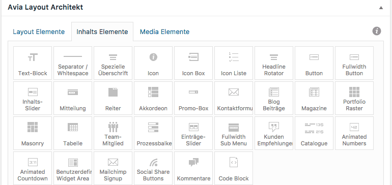 Wordpress Pagebuilder Beispiel