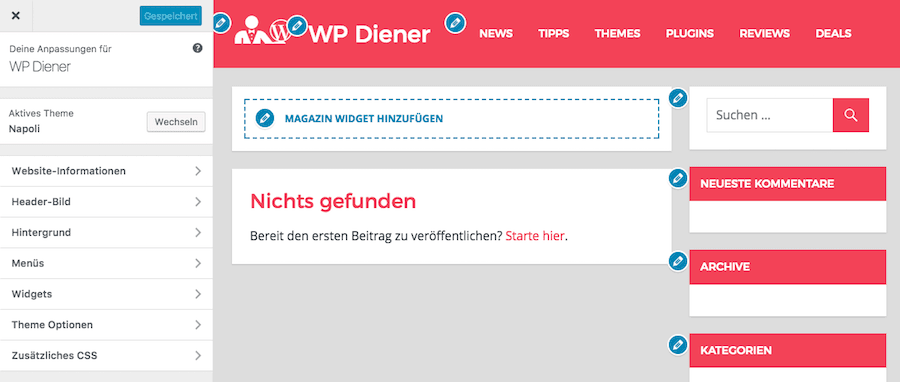 WP Theme Funktionen