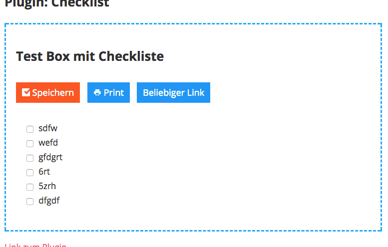 Checklisten Plugin für WordPress