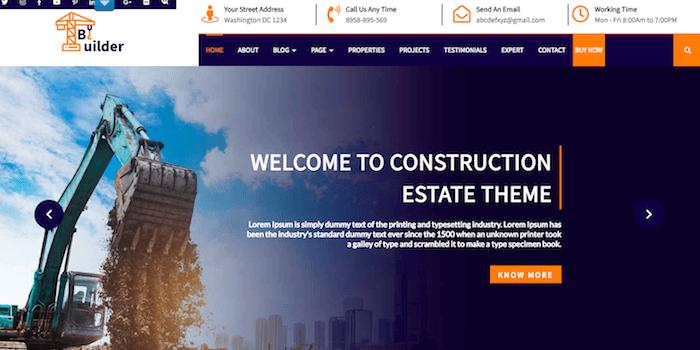 Bauunternehmen Theme