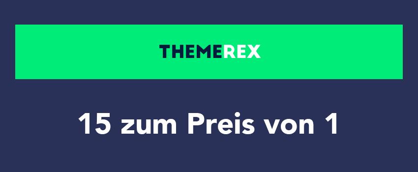 [ThemeRex] 15 Premium Themes zum Preis von einem (nur für kurze Zeit)
